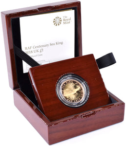 2018 Gold Proof £2 Westland Sea King Coin BOX COA Double Sovereign