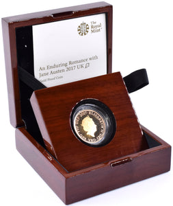 2017 Gold Proof £2 Jane Austen Coin BOX COA Double Sovereign