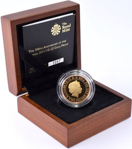 2013 Gold Proof £2 Golden Guinea Coin BOX COA Double Sovereign