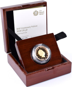2018 Gold Proof £2 Avro Vulcan Bomber Coin BOX COA Double Sovereign