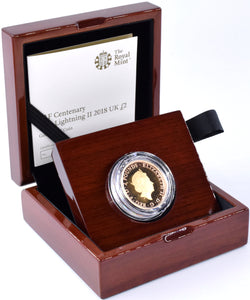 2018 Gold Proof £2 RAF F-35 Lightning Coin BOX COA Double Sovereign