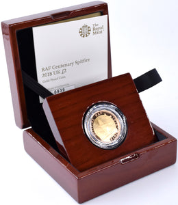 2018 Gold Proof £2 RAF Spitfire Coin BOX COA Double Sovereign