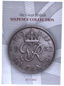NEW 1872 - 1967 Sixpence 6d Six Pence Tanner Coin Collectors Album