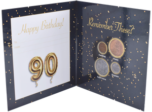 Birthday Coin Year Gift Card Including Coins 90th Birthday