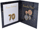 Birthday Coin Year Gift Card Including Coins 70th Birthday