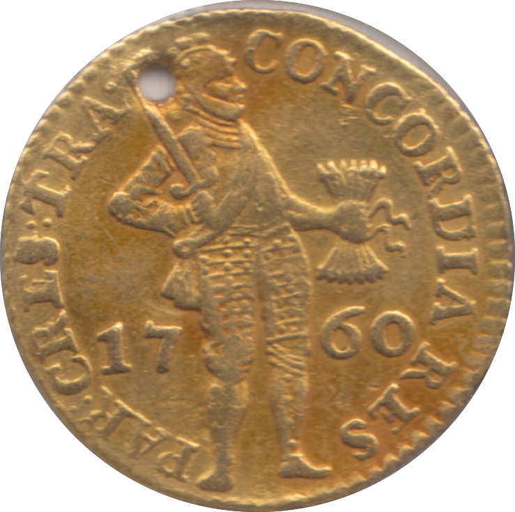 1760 GOLD HOLLAND DUCAT 3.49 GRAMS .986 GOLD