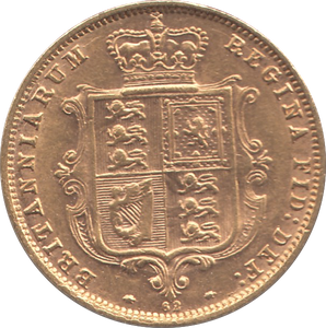 1876 HALF SOVEREIGN ( EF )