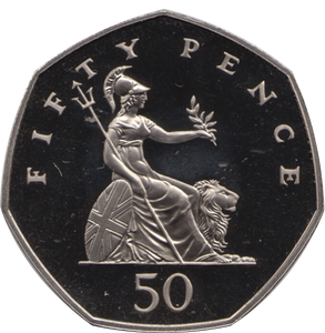 1982 FIFTY PENCE PROOF 50P BRITANNIA