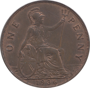 1936 PENNY ( UNC ) 1