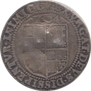 1604 SILVER SIXPENCE JAMES 1ST REF 99