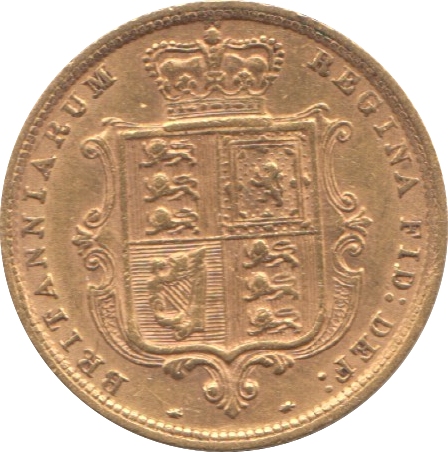 1885 HALF SOVEREIGN ( GVF )