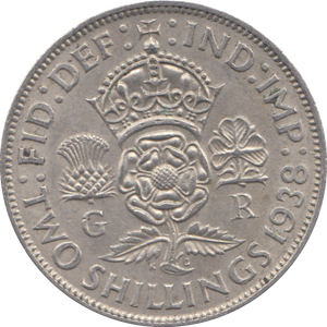 1938 TWO SHILLINGS ( EF )