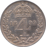 1899 MAUNDY FOUR PENCE ( AUNC )