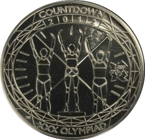 2012 BRILLIANT UNCIRCULATED LONDON OLYMPIC PODIUM £5 COIN BU