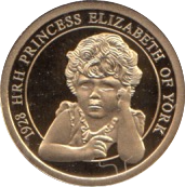 2012 GOLD PROOF  1928-THE PRINCESS OF YORK THE QUEEN'S DIAMOND JUBILEE. WITH COA REF 27