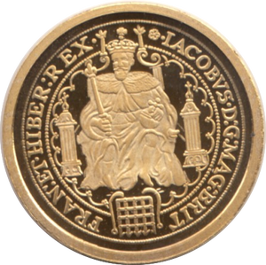 2011 GOLD PROOF KING JAMES I ROSE RYAL 1605 WITH COA REF1