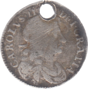 1684 MAUNDY FOURPENCE HOLED ( FAIR )