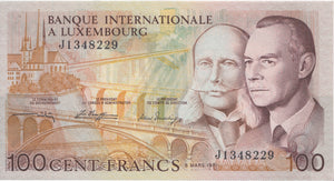 1981 100 FRANCS BANKNOTE LUXEMBURG REF 881