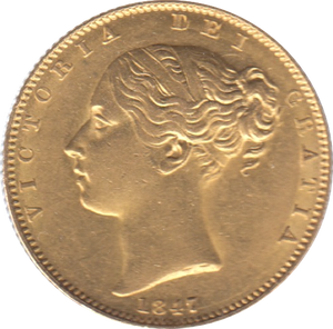 1847 SOVEREIGN ( EF ) REF 26 SHIELD BACK