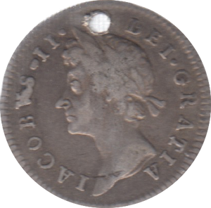 1686 MAUNDY FOURPENCE ( GF ) HOLED