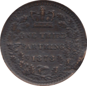 1878 ONE THIRD FARTHING ( VF )