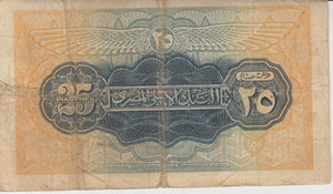 1942 25 PIASTRES NATIONAL BANK OF EGYPT EGYPT BANKNOTE REF 169