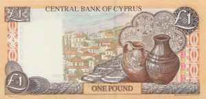 1 POUND CENTRAL BANK OF CYPRUS CYPRUS 2004 BANKNOTE REF 418