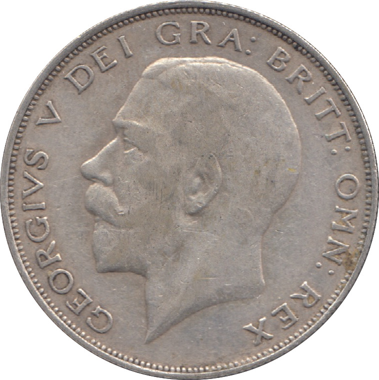 1924 HALFCROWN ( VF ) 3