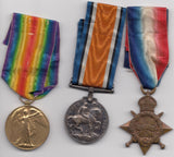 WW1 MEDAL TRIO COLLECTION, 1914-15 MONS STAR MEDAL, 1914-19 VICTORY WAR MEDAL, 1914-18 BRITISH WAR MEDAL PTF. J.BEETMAN. SOM .I.