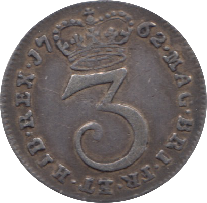 1762 MAUNDY THREEPENCE ( VF ) 11
