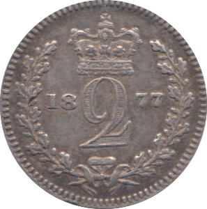 1877 MAUNDY TWO PENCE ( GVF ) 3