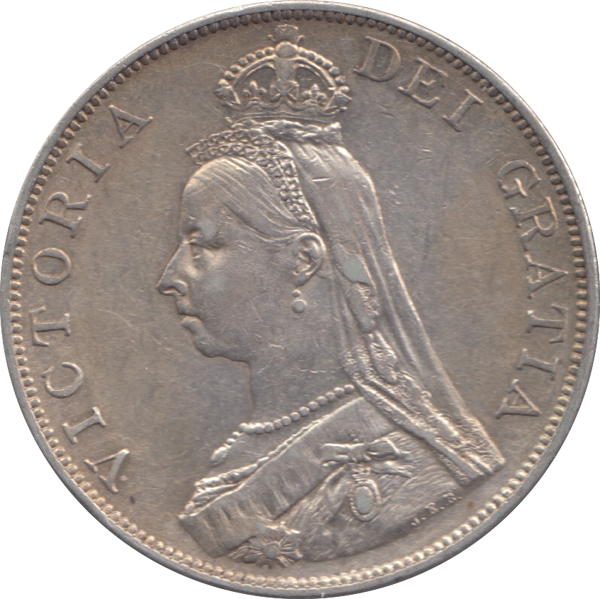 1889 DOUBLE FLORIN ( EF ) 3