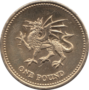 2000 CIRCULATED £1 Welsh Dragon