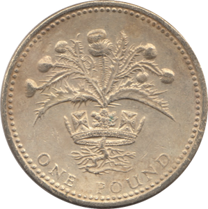 1989 CIRCULATED £1 Shottish Thistle