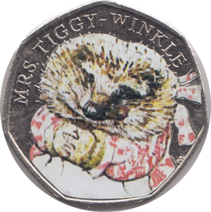 2016 MRS TIGGY-WINKLE COLOURED CIRCULATED BEATRIX COIN