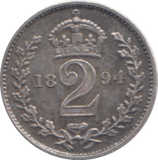 1894 MAUNDY TWOPENCE ( EF ) 7