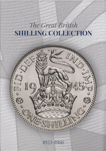 1925 - 1966 Great British One Shilling Coin Hunt Collectors Album