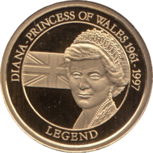 2010 GOLD PROOF  DIANA-PRINCESS OF WALES THE GREATEST BRITONS  WITH COA . REF 43