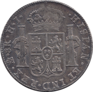 1810 MEXICO SILVER 8 REALES SPANISH COLONIAL TRADE DOLLAR