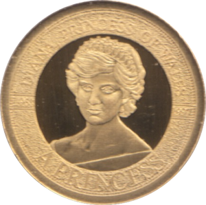 1997  GOLD PROOF PORTRAIT OF A PRINCESS DIANA PRINCESS OF WALES A PRINCESS REF 21 A