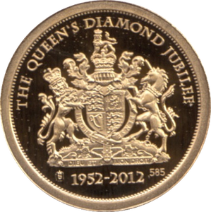 2012 GOLD PROOF  1939-HRH THE PRINCESS ELIZABETH THE QUEEN'S DIAMOND JUBILEE. WITH COA REF 29