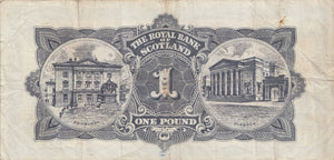 1966 THE ROYAL BANK OF SCOTLAND ONE POUND NOTE