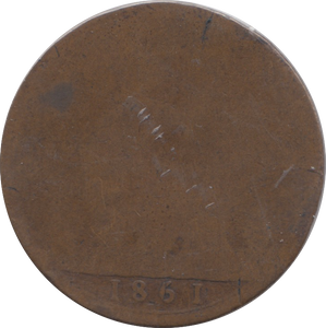 1861 PENNY NO SIGNATURE ( POOR )