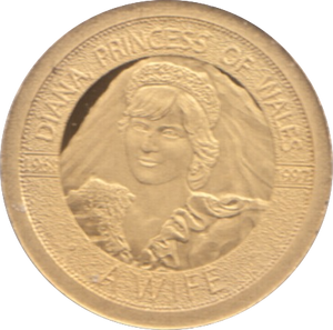 1997  GOLD PROOF PORTRAIT OF A PRINCESS DIANA PRINCESS OF WALES A WIFE REF 19