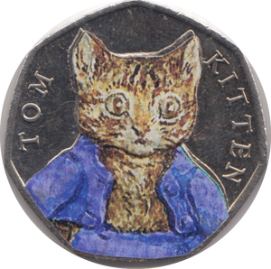 2017 TOM KITTEN COLOURED CIRCULATED BEATRIX COIN