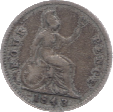 1843 FOURPENCE 2 ( FINE )