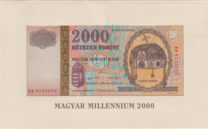 2000 2000 FORNIT HUNGARIAN BANKNOTE HUNGARY REF 796