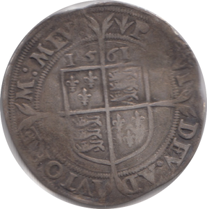 1561 SILVER SIXPENCE ELIZABETH 1ST SECOND ISSUE SMALL BUST REF 101