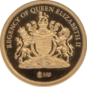 2012 GOLD PROOF REGENCY OF QUEEN ELIZABETH II 1986 HM 60TH BIRTHDAY REF 40