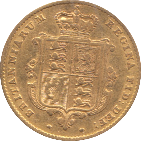 1851 HALF SOVEREIGN ( FINE )